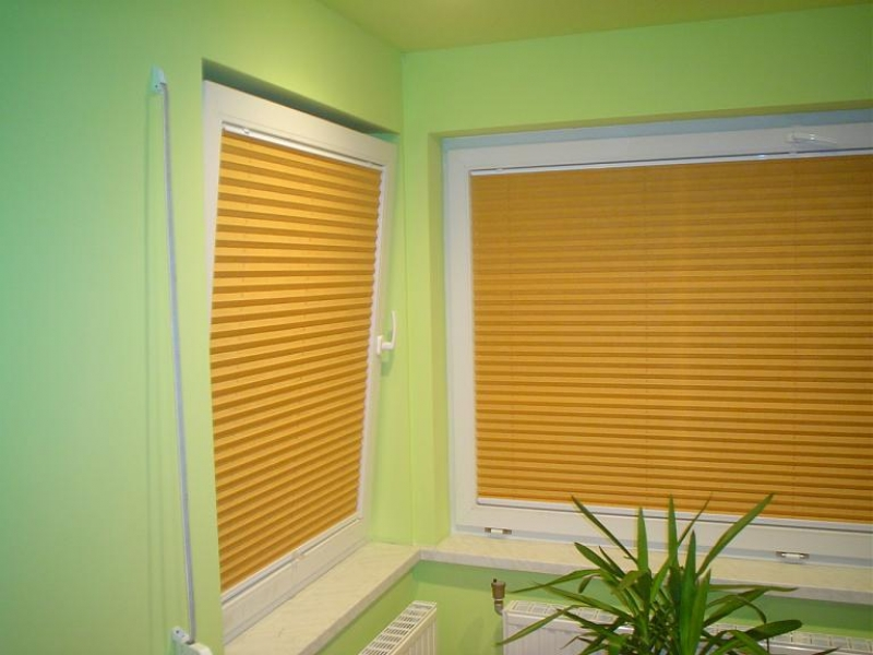 restposten klemmfix plissee faltstore seitenverspannung ohne bohren gelb orange ebay. Black Bedroom Furniture Sets. Home Design Ideas